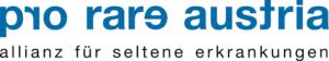 """Logo zeigt den Schriftzug """"pro rare austria - allianz für seltene erkrankungen"""""""